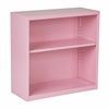 Office Star Metal Bookcase in Pink Finish, Ships fully Assembled.