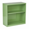 Office Star Metal Bookcase in Green Finish, Ships fully Assembled.