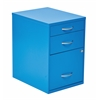 "Office Star 22"" Pencil, Box, Storage File Cabinet in Blue Finish"