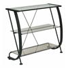 Horizon 3 Shelf Bookcase with Black Powder Coated Metal Frame & Bronze Tempered Glass Shelves.