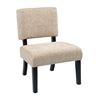 Office Star Jasmine Accent Chair in Maze Oyster