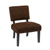 Office Star Jasmine Accent Chair in Maze Chocolate