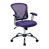 Office Star Juliana Task Chair in Purple Mesh