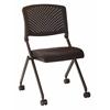 Black Plastic Nesting Chair 2-Pack