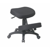 Office Star Black Ergonomically Designed Knee Chair Featuring Memory Foam and Five Star Base with Dual Wheel Carpet Casters