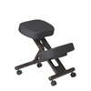 Office Star Ergonomically Designed Espresso  Finished Wood Knee Chair Featuring Memory Foam and Dual Wheel Carpet Casters