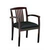 Leg Chair With Wood Slat Back & Mahogany Finish