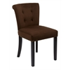 Office Star Kendal Chair in Chocolate Velvet