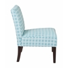 Office Star Laguna Chair in Celtic Azure-Dark Side with Dark Espresso Legs