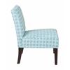 Office Star Laguna Chair in Celtic Azure-Dark Side with Dark Espresso Legs