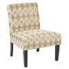Office Star Laguna Chair in Santa Fe Oyster Fabric with Dark Espresso Legs