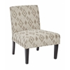 Office Star Laguna Chair in Santa Fe Taupe with Dark Espresso Legs