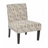 Office Star Laguna Chair in Santa Fe Taupe with Dark Espresso Legs
