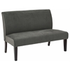 Office Star Lagua Loveseat in Graphite Velvet fabric and Dark Espresso Legs