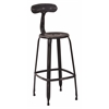 "Office Star Lexington 30"" Metal Barstool In Antique Black Finish, 2-Pack"