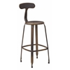 "Office Star Lexington 30"" Metal Barstool In Antique Copper Finish, 4-Pack"