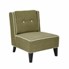 Office Star Ave Six Marina Accent Chair in Woven Seaweed Fabric  with Inner Box Spring & Solid Wood Legs