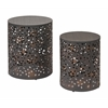 Office Star Middleton 2 Piece Set Round Accent Tables, Fully Assembled.