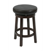 "Office Star 24"" Metro Round Barstool in Espresso Faux Leather"