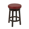 "Metro 24"" Metro Round Barstool in Red Faux Leather"