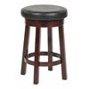 "Office Star 24"" Metro Round Barstool in Black Faux Leather"