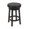 "Metro 24"" Metro Round Barstool in Espresso Faux Leather"