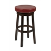 "Office Star 30"" Metro Round Barstool in Crimson Red Faux Leather"
