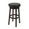 "Metro 30"" Metro Round Barstool in Espresso Faux Leather"