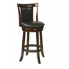 "Metro 30"" Swivel Barstool in Faux Leather"