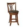 "24""Swivel Barstool in Espresso Faux Leather"