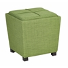 Office Star 2-Piece Ottoman Set with tray top in Milford Grass Fabric