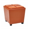 Office Star 2-Piece Orange Vinyl Ottoman Set