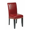 Crimson Red Bonded Leather Parsons Chair