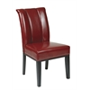 Office Star Crimson Red Eco Leather Parsons Chair