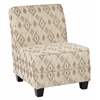 Office Star Milan Chair in Santa Fe Taupe Fabric with Dark Esspresso Legs