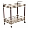Office Star Melrose Serving Cart with Antique Brass Metal Finish.