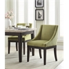 Office Star Monarch Easy-Care Velvet Wingback Chair in Basil Velvet Fabric with Solid Wood Legs and Inner Spring Cushioned Seat