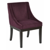 Office Star Monarch Easy-Care Velvet Wingback Chair in Port Velvet Fabric with Solid Wood Legs and Inner Spring Cushioned Seat