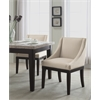 Office Star Monarch Easy-Care Velvet Wingback Chair in Oyster Velvet Fabric with Solid Wood Legs and Inner Spring Cushioned Seat