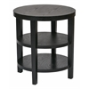 "Office Star Work Smart Merge 20"" Round End Table Black Finish"