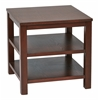 "Office Star Merge 20"" Square End Table mahogany Finish"