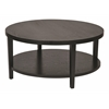 "Office Star Merge 36"" Round Coffee Table. Black Finish."