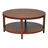 "Office Star Merge 36"" Round Coffee Table.  Cherry Finish."