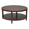 "Office Star Merge 36"" Round Coffee Table.  Mahogany Finish."