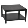 "Office Star Merge 30"" Square Coffee Table Black Finish"