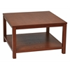 "Office Star Merge 30"" Square Coffee Table Cherry Finish"
