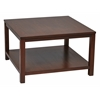 "Office Star Merge 30"" Square Coffee Table Mahogany Finish"