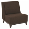 Office Star Merge Accent Chair in Milford Java Fabric with Dark Espresso Legs