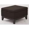 Office Star Merge Storage Ottoman in Milford Java Fabric with Reversible Tray