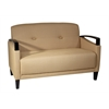 Office Star Main Street Loveseat in Woven Wheat